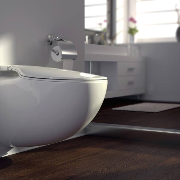 Veggmontert vakumtoalett komplett toalettsystem. Uten mottak.